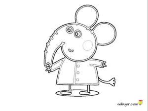 Imágenes Peppa Pig: Emily Elephant para colorear