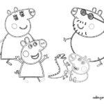 Imagenes para colorear de Peppa Pig y su familia