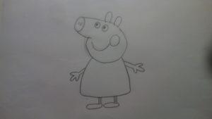 Cómo dibujar a Peppa pig