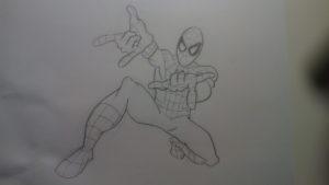 Cómo dibujar a Spiderman, el hombre araña