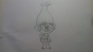 Cómo dibujar a Poppy de Trolls