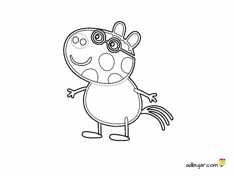 Dibujos para colorear: Pedro Pony. Animales poni Peppa pig ...