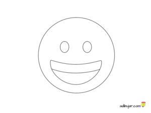 Emoticones para imprimir. Emojis sonrisa