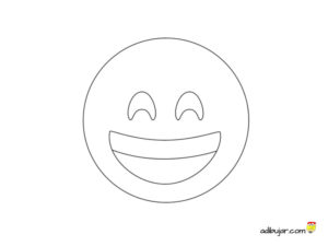 Emoji smiley para imprimir y colorear