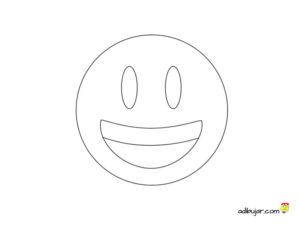 Imágenes emoticones sonrisa para colorear