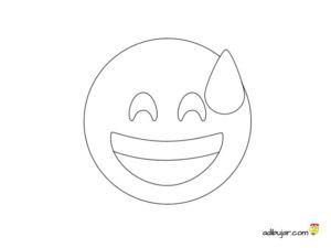 Dibujo de un emoticono comprometido para dibujar y colorear