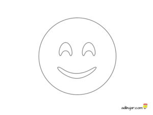 Sonrisa para colorear: Dibujo emoticon sonriente