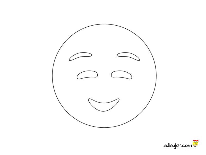 Imagen de Emoji Smiley tímido 800x600 | adibujar.com