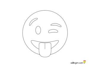 Emoji travieso: Emoticono que guiña un ojo mientras saca la lengua