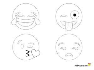 4 Emojis para dibujar y colorear