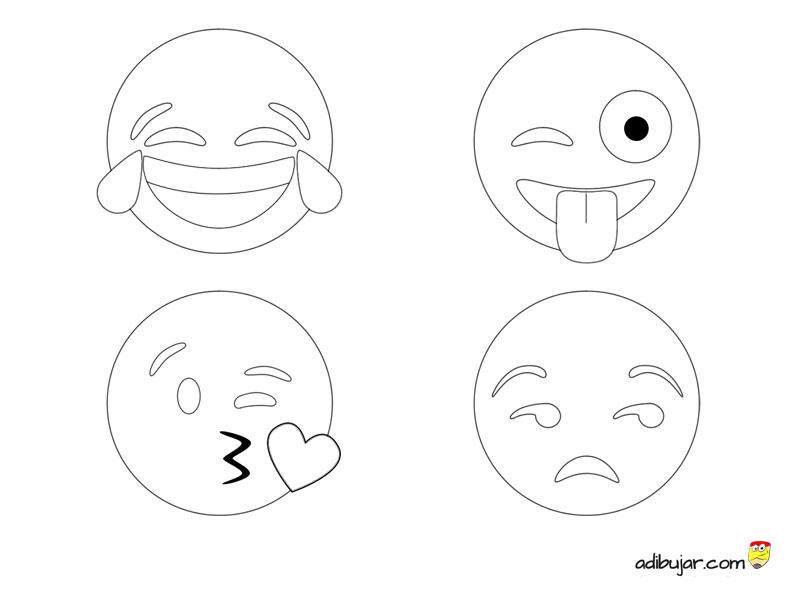 Los 4 Emojis Más Usados En Whatsapp Para Colorear 800x600 Adibujarcom