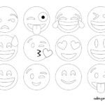 Emojis para dibujar. Emoticonos whatsapp para colorear