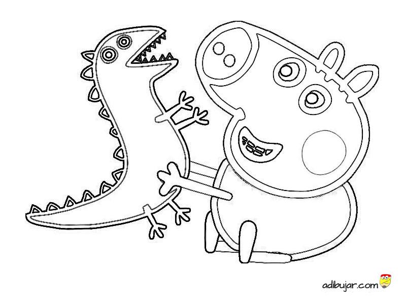 George Pig Para Colorear Adibujar Com De hecho, en la primera, podemos observar vemos un dinosaurio rudo, con una expresión muy seria y una mirada penetrante, amenazante. george pig para colorear adibujar com