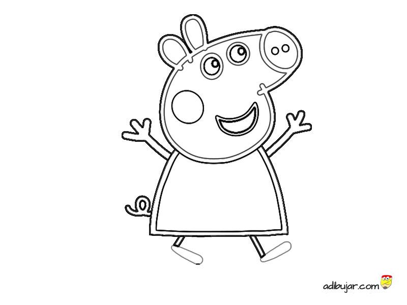 Dibujo De Peppa Pig Para Colorear Adibujarcom
