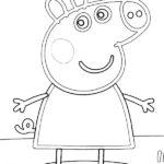 Dibujos para colorear: Peppa Pig sonriendo