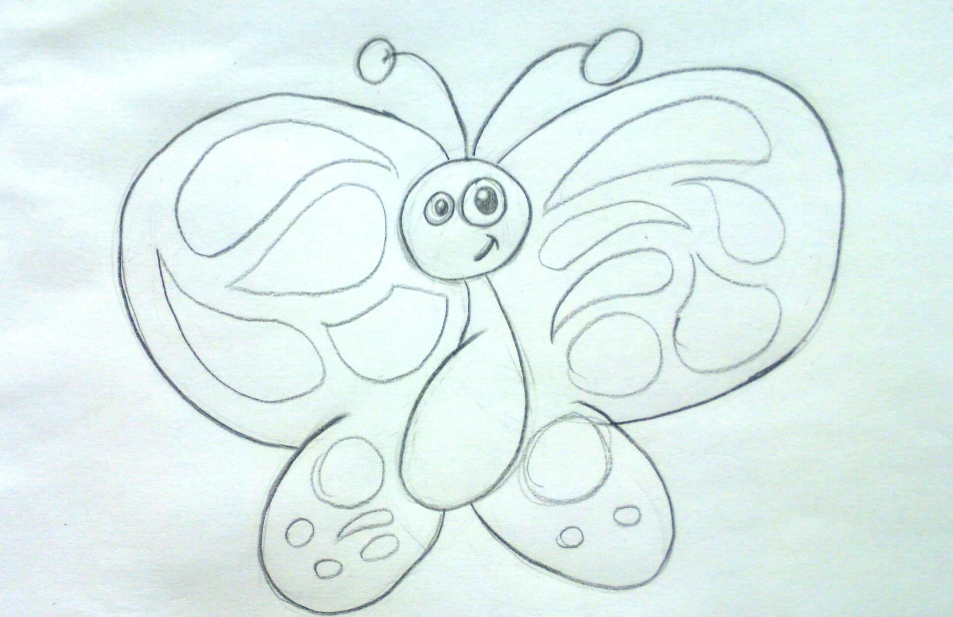 Cómo dibujar una mariposa