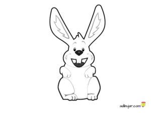 Imagen de un conejo para imprimir