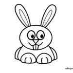 Dibujo de un tierno conejo para colorear