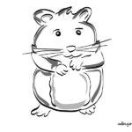 Colorear Hamster. Dibujos de animales domésticos