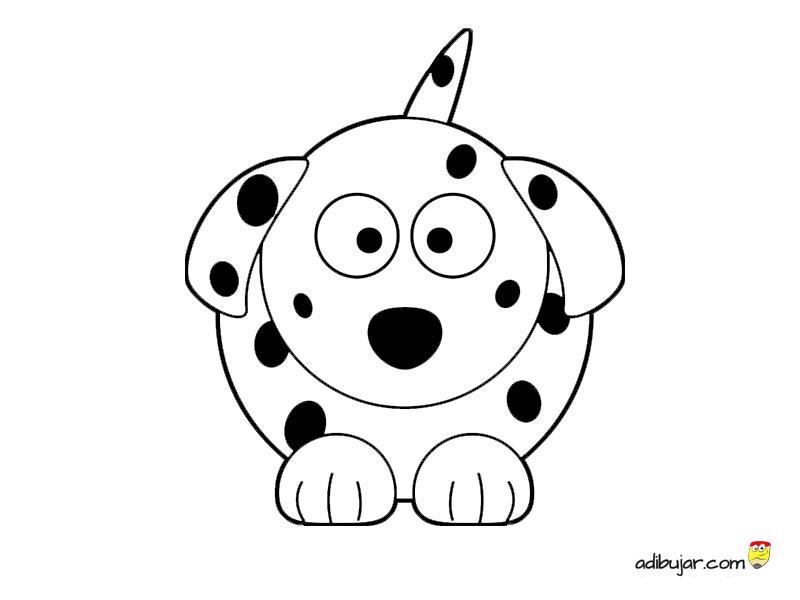 Dibujos Infantiles De Perros Para Colorear: Perro Dálmata Para Colorear