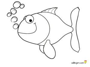 Imagen de un pez para imprimir y colorear