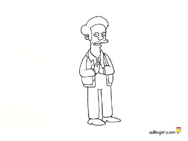 Apu De Los Simpson Para Colorear Adibujarcom