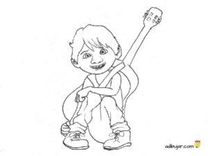 Dibujo colorear Miguel de Coco