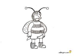 Hombre abeja de los Simpsons para colorear