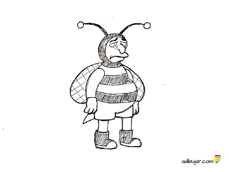 Hombre Abeja De Los Simpson Para Colorear Bumblebee Man