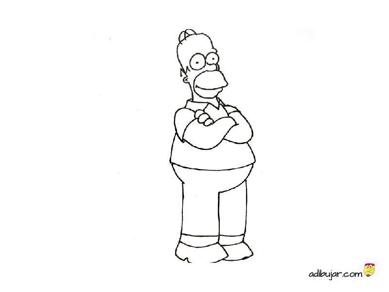 Homer Simpson para colorear | adibujar.com
