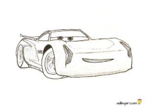 Cars 3: Jackson Storm, dibujo para colorear e imprimir