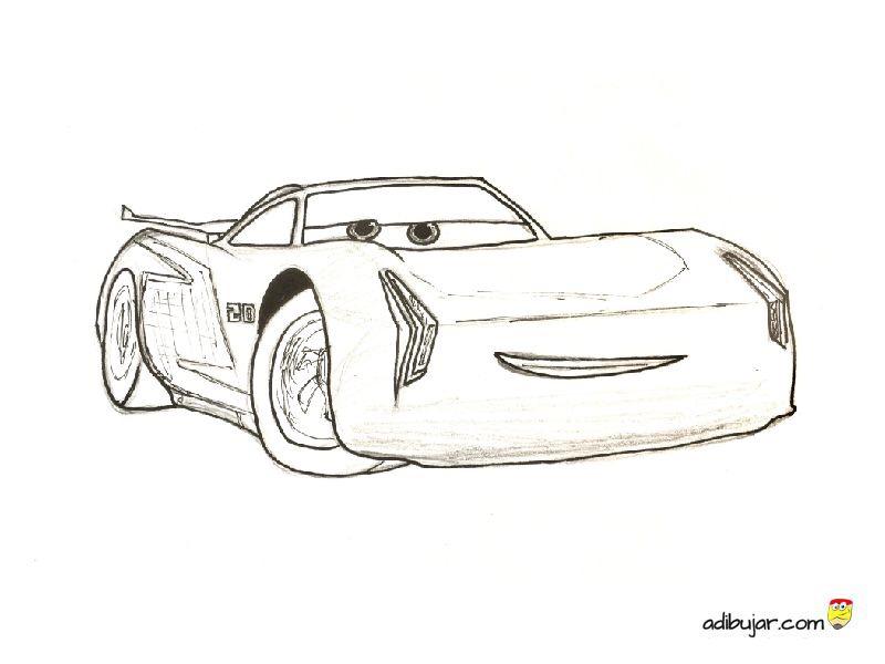 Cars 3: Jackson Storm dibujo para colorear e imprimir   adibujar.com