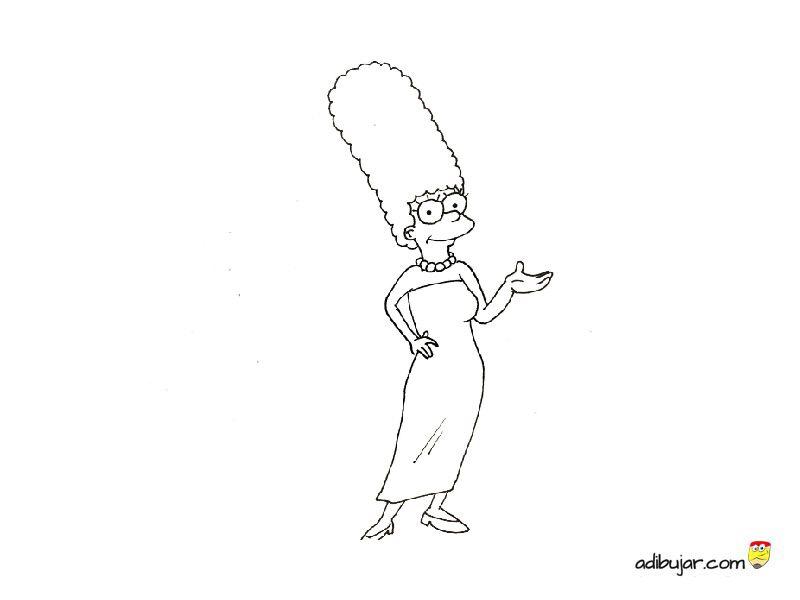 Marge Simpson Para Colorear Adibujarcom