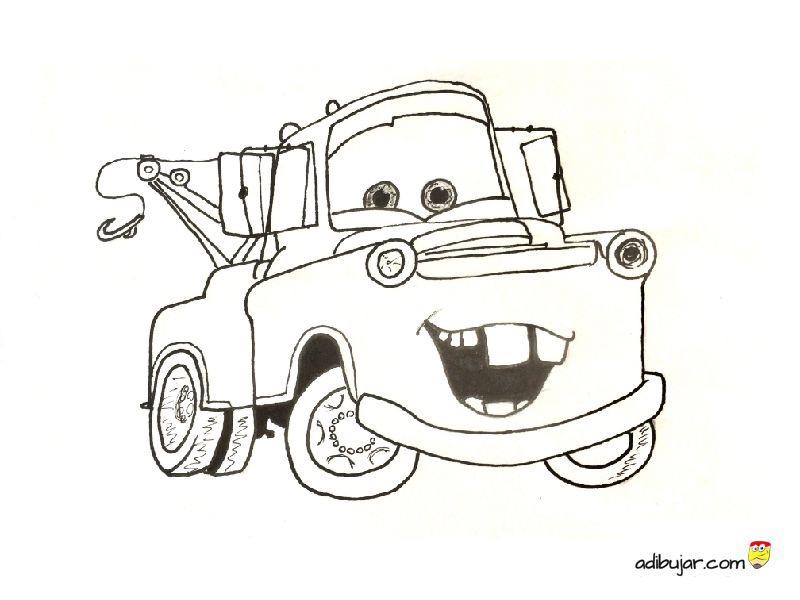 Mate (Tow Mater) dibujo para colorear | adibujar.com