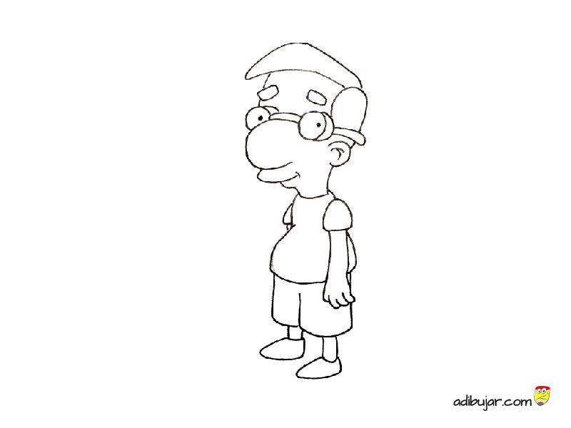Milhouse de los Simpson para colorear   adibujar.com