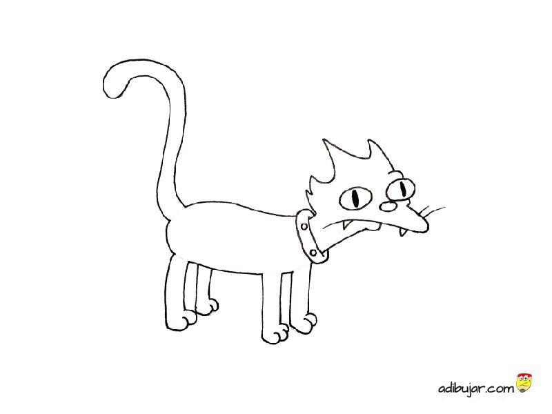 Snowball, el gato de los Simpson para colorear: Bola de ...