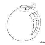 Dibujo para colorear: Bola de Navidad