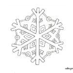 Dibujo para colorear y decorar: copo de nieve