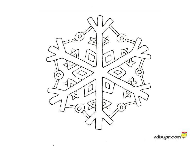 Copo De Nieve Adornos Navidad Imprimibles Adibujarcom