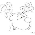 Reno de Santa Claus para colorear: Rudolf